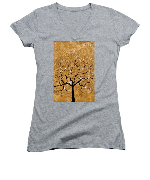 By The Tree Women's V-Neck (Athletic Fit)