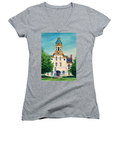 Cabarrus County Courthouse Women's V-Neck (Athletic Fit)
