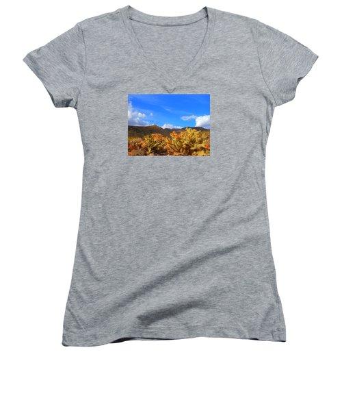 Cactus In Spring Women's V-Neck T-Shirt