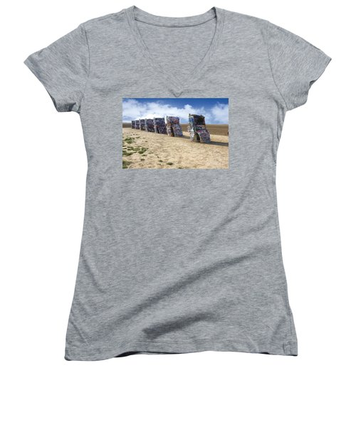 Cadillac Ranch Women's V-Neck (Athletic Fit)
