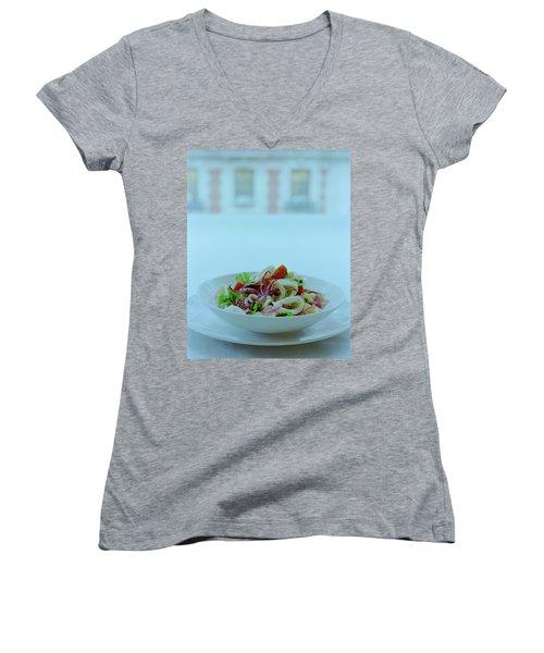 Calamari Salad Women's V-Neck