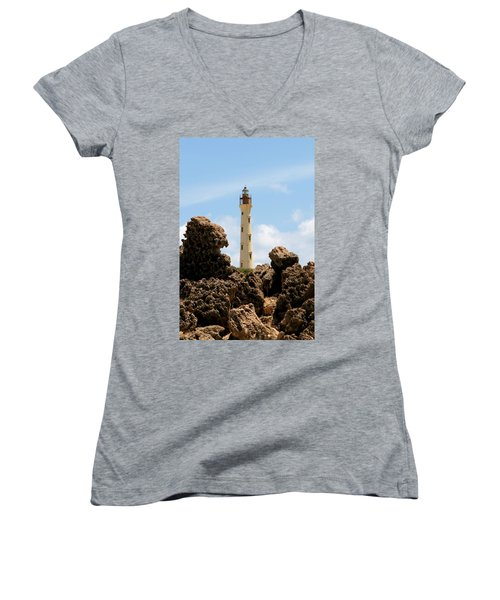 California Lighthouse Aruba Women's V-Neck (Athletic Fit)