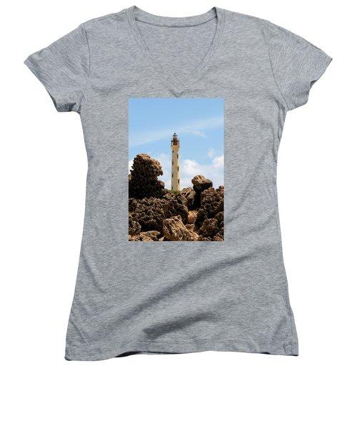 California Lighthouse Aruba Women's V-Neck