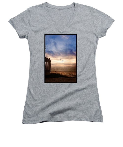 Calm Women's V-Neck T-Shirt