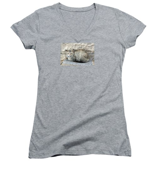 Camo Cat Women's V-Neck