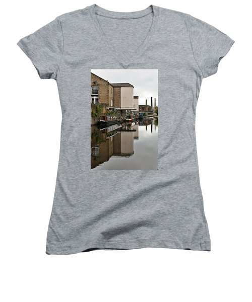 Canal And Chimneys Women's V-Neck (Athletic Fit)