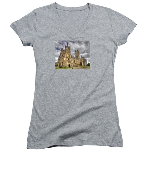Canterbury Cathedral Women's V-Neck T-Shirt