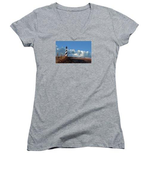 Cape Hatteras Lighthouse Nc Women's V-Neck T-Shirt