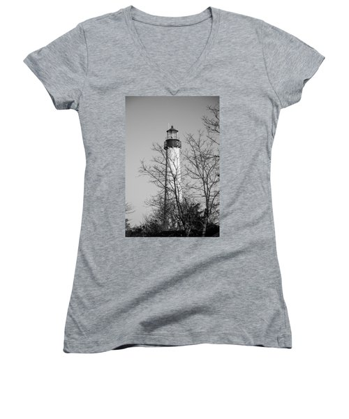 Cape May Light B/w Women's V-Neck (Athletic Fit)