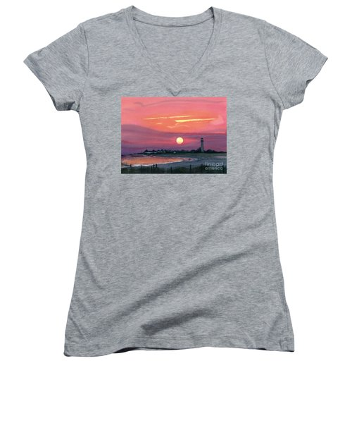 Cape May Sunset Women's V-Neck T-Shirt