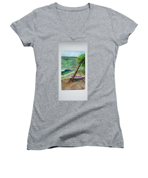 Caribbean Morning II Women's V-Neck
