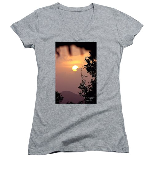 Caribbean Summer Solstice  Women's V-Neck T-Shirt (Junior Cut)