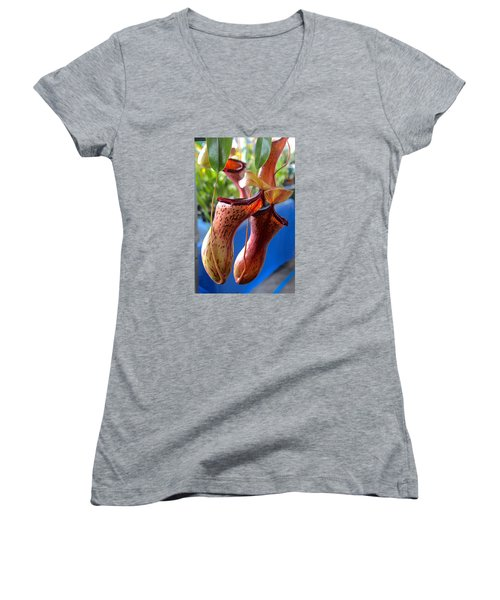 Carnivorous Pitcher Plants Women's V-Neck T-Shirt