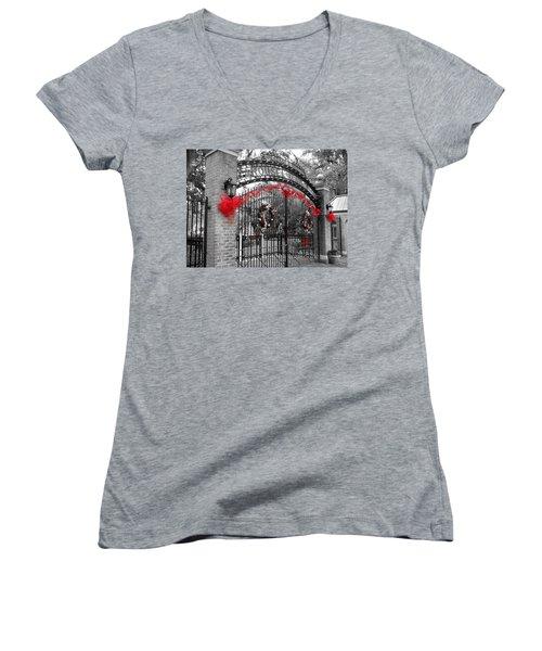 Carousel Gardens - New Orleans City Park Women's V-Neck T-Shirt (Junior Cut)