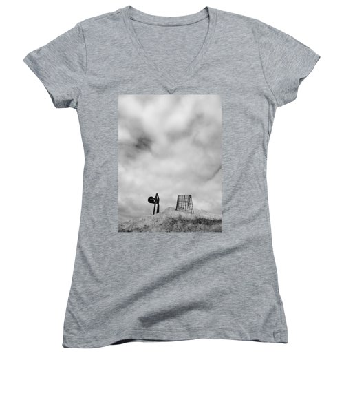 Cart Art No. 10 Women's V-Neck (Athletic Fit)