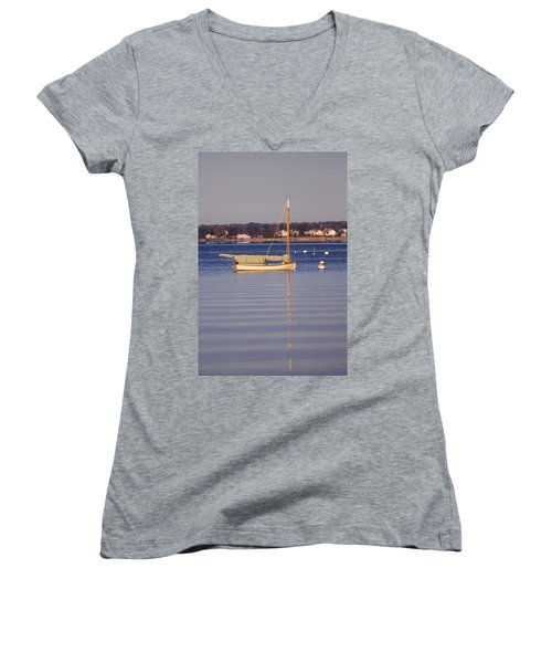Cat Boat Women's V-Neck T-Shirt