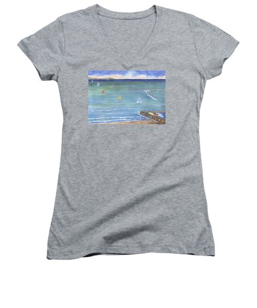 Catalina To Redondo Women's V-Neck T-Shirt