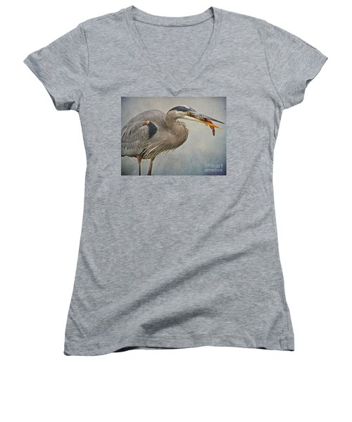 Catch Of The Day Women's V-Neck T-Shirt (Junior Cut) by Heather King