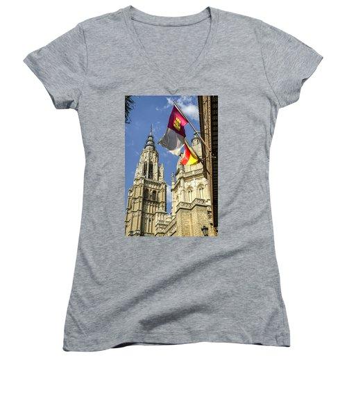 Catedral De Santa Maria De Toledo Women's V-Neck