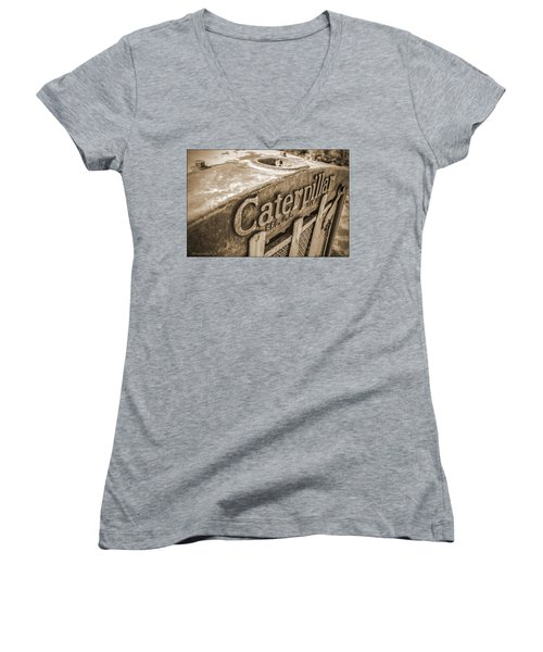 Caterpillar Vintage Women's V-Neck T-Shirt