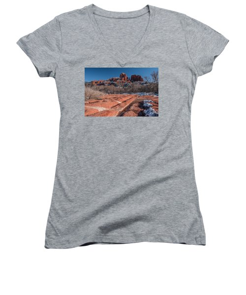 Cathedral Rock Winter Women's V-Neck