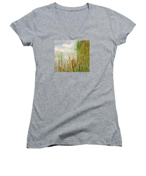 Cattails Women's V-Neck (Athletic Fit)