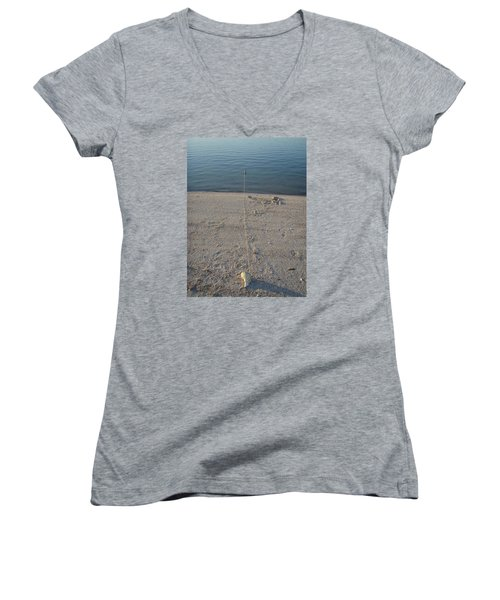 Women's V-Neck T-Shirt (Junior Cut) featuring the photograph Champagne Chillin by Robert Nickologianis
