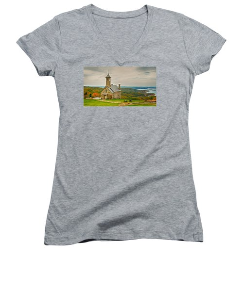 Chapel Of The Ozarks Women's V-Neck (Athletic Fit)