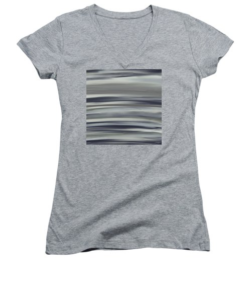 Charcoal And Blue Women's V-Neck