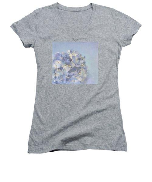Charming Blue Women's V-Neck