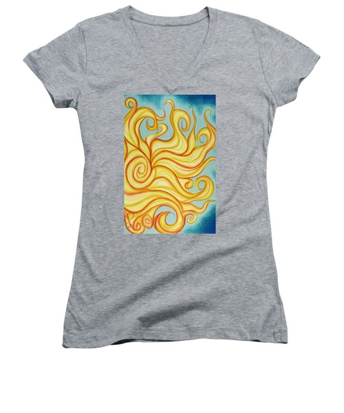 Chatting Sun Women's V-Neck T-Shirt
