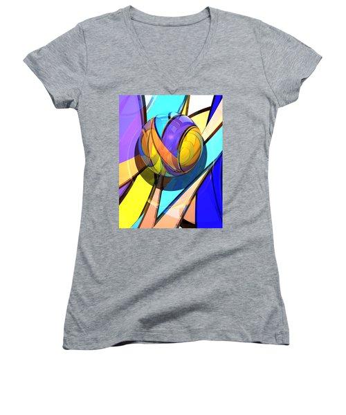 Check Barrels 35  Women's V-Neck T-Shirt