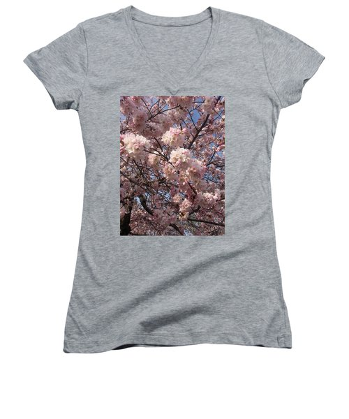 Cherry Blossoms For Lana Women's V-Neck (Athletic Fit)