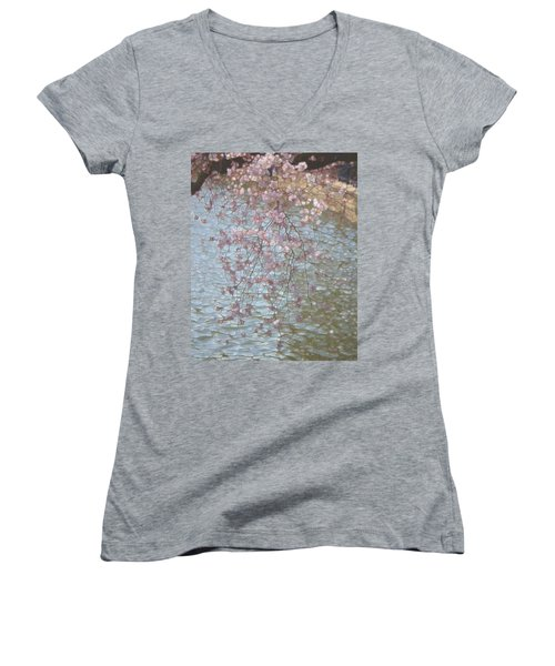 Cherry Blossoms P2 Women's V-Neck