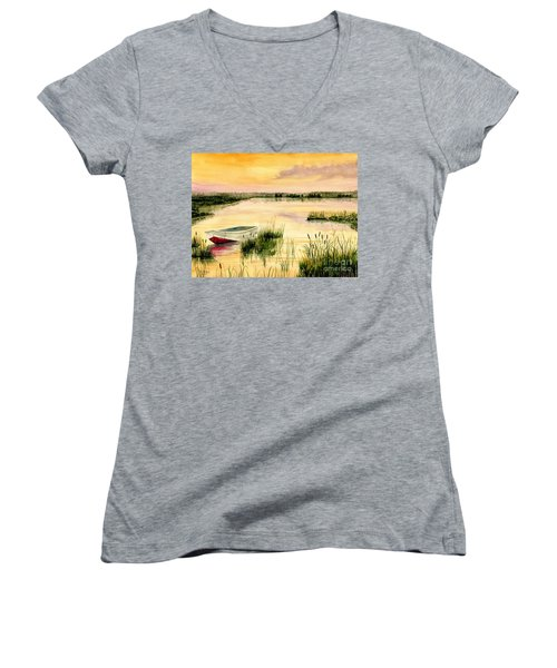 Chesapeake Marsh Women's V-Neck T-Shirt