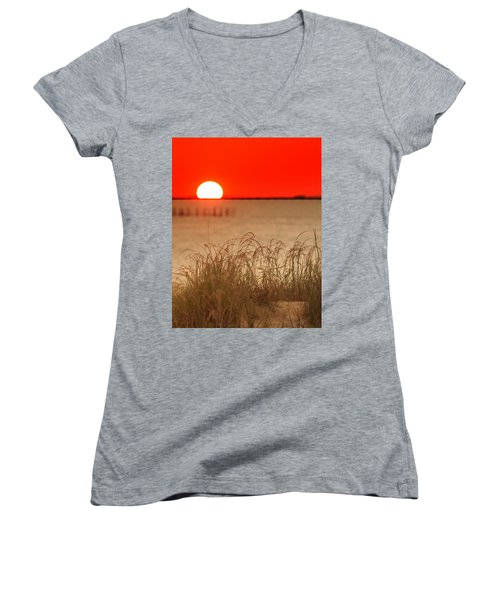 Chesapeake Sunset Women's V-Neck