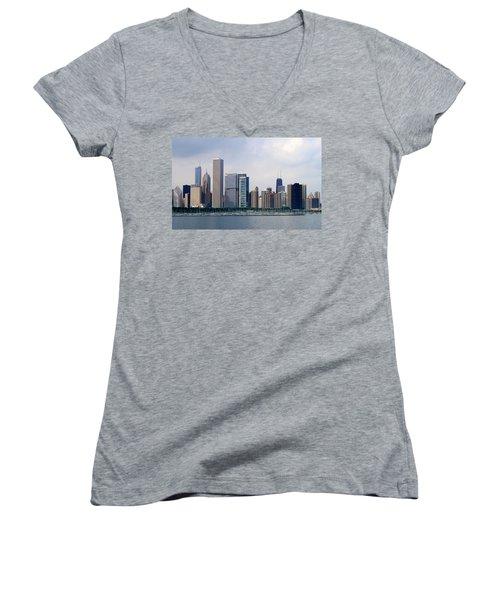 Chicago Panorama Women's V-Neck