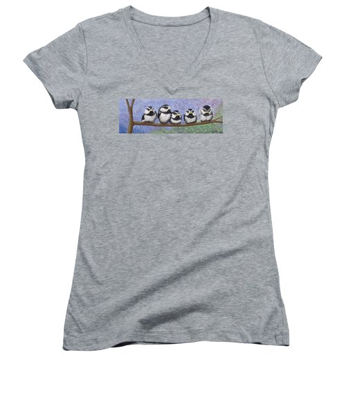 Chickadee Chicks Women's V-Neck (Athletic Fit)