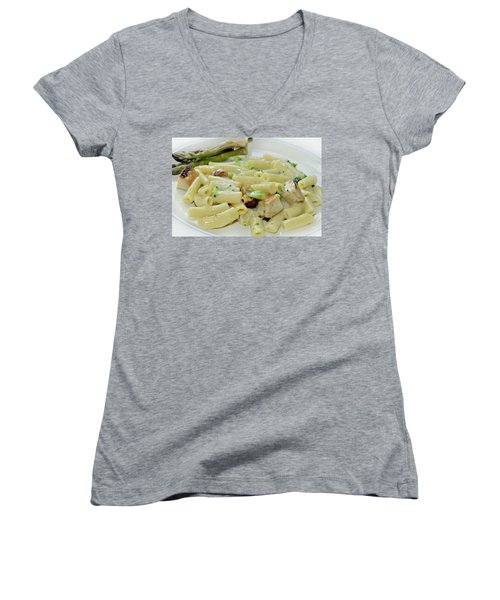 Chicken Alfredo Meal Women's V-Neck (Athletic Fit)