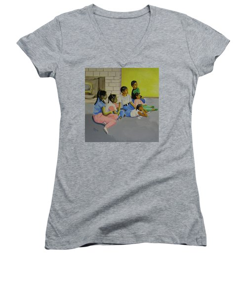 Children's Attention Span  Women's V-Neck