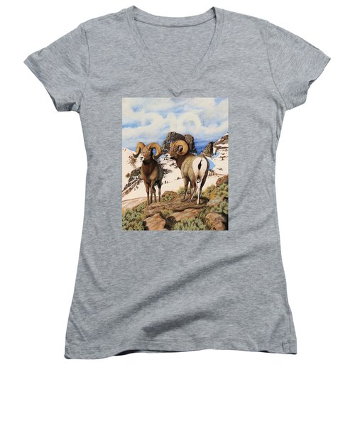 Chimney Rock Thunderheads Women's V-Neck T-Shirt