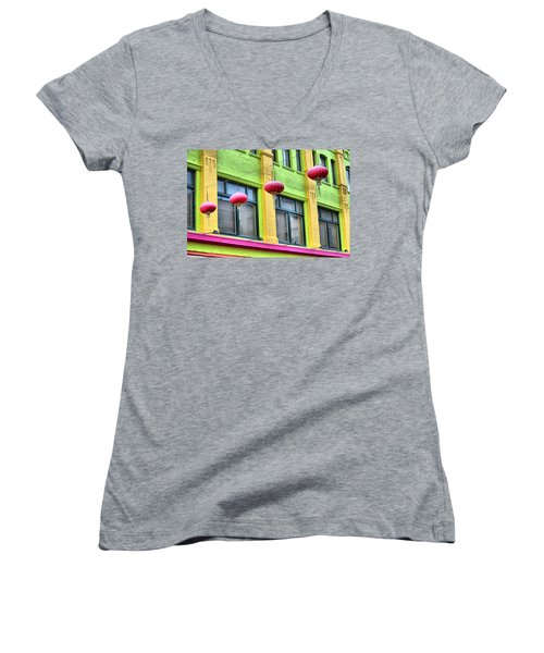 Chinatown Colors Women's V-Neck (Athletic Fit)