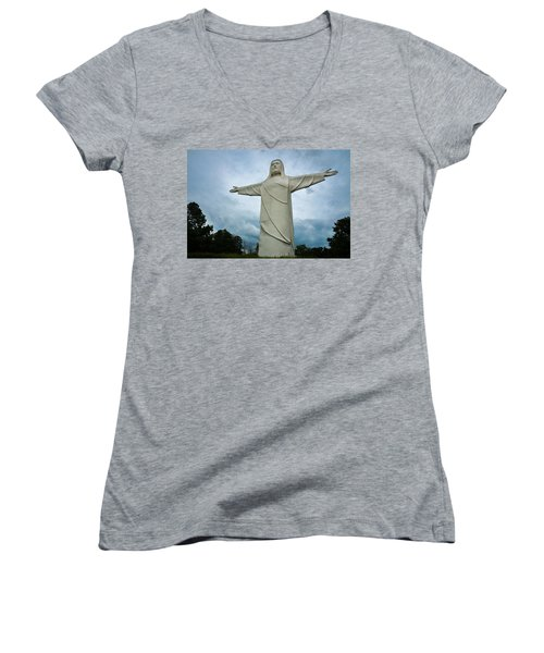 Christ Of The Ozarks Women's V-Neck