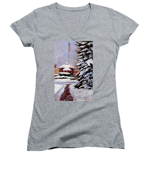 Christmas In Chagrin Falls Women's V-Neck T-Shirt