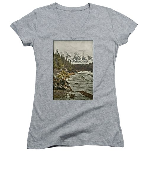 Chugach Range Women's V-Neck T-Shirt (Junior Cut)