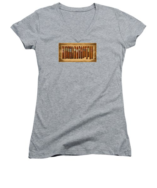 Cigar Sampler Painting Women's V-Neck