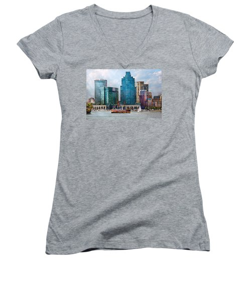 City - Baltimore Md - Harbor East  Women's V-Neck