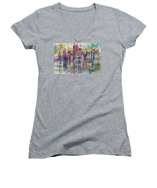 City Reflections Women's V-Neck (Athletic Fit)