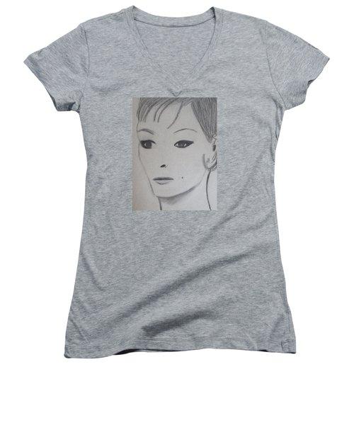 Claire Women's V-Neck T-Shirt (Junior Cut)