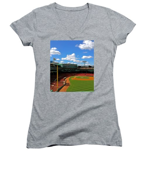 Classic Fenway I  Fenway Park Women's V-Neck T-Shirt (Junior Cut) by Iconic Images Art Gallery David Pucciarelli